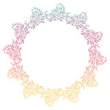 Beautiful round gradient frame. Raster clip art. Stock Images