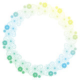 Beautiful round gradient frame. Raster clip art. Royalty Free Stock Photo