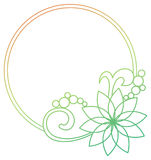 Beautiful round gradient frame. Raster clip art. Stock Photo