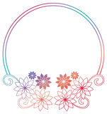 Beautiful round gradient frame. Raster clip art. Stock Image