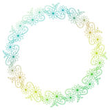 Beautiful round gradient frame. Raster clip art. Royalty Free Stock Image