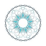 Beautiful round ornament Royalty Free Stock Images