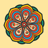 Beautiful round ornament Stock Image