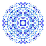 Beautiful round ornamental mandala. Flake of snow made in vector. Perfect element for any other kind design, birthday and holiday, Stock Image