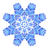 Beautiful round ornamental mandala. Flake of snow made in vector. Perfect element for any other kind design, birthday and holiday, Royalty Free Stock Photo