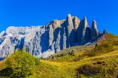 The beautiful route in the Italian Dolomites Royalty Free Stock Image