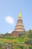 Beautiful Royal Pagoda at northern of Thailand Royalty Free Stock Photos