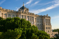 Beautiful Royal Palace of Madrid in Spain Stock Photos
