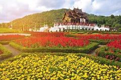 Beautiful Royal pavillion at Chaing mai, Thailand. Vintage style stock image