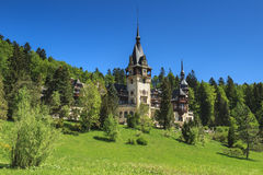 Beautiful royal Peles castle,Sinaia,Romania. Famous royal Peles castle,Sinaia,Romania Royalty Free Stock Image