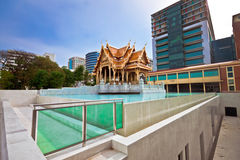The beautiful of Royal Thai Pavilion in Siriraj Hospital Royalty Free Stock Photography
