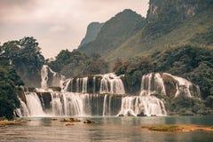 Ban Gioc Waterfall in Vietnam. Beautiful Royalty free stock photo. Ban Gioc Waterfall in Vietnam Royalty Free Stock Photos