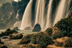Ban Gioc Waterfall in Vietnam. Beautiful Royalty free stock photo. Ban Gioc Waterfall in Vietnam Royalty Free Stock Image