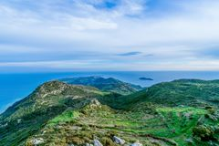 A view from the monastary of skopiotissa zakynthos. Beautiful Royalty free stock photo. a view from the monastary of skopiotissa zakynthos Royalty Free Stock Images