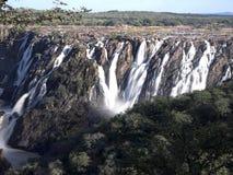 Beautiful Ruacana falls on the border of Namibia and Botswana. stock photos