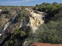 Beautiful Ruacana falls on the border of Namibia and Botswana. royalty free stock photo