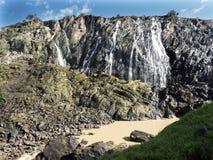Beautiful Ruacana falls on the border of Namibia and Botswana. royalty free stock image