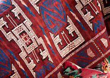 Beautiful rugs from local market Stock Images