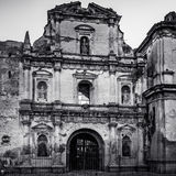 Beautiful Ruin facade in Black and White royalty free stock images