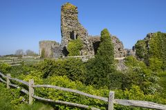 Pevensey Castle in East Sussex. The beautiful ruin of the historic Pevensey Castle in East Sussex, UK. It is a medieval castle and former Roman Saxon Shore fort royalty free stock photo