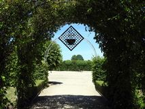 Beautiful Rundale palace park, Latvia Stock Photos