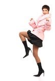 Beautiful running woman Royalty Free Stock Photography