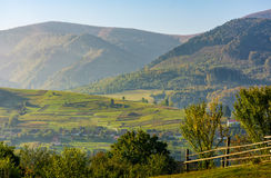 Beautiful rural area in mountainous countryside Royalty Free Stock Photos