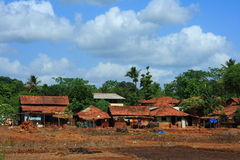 Beautiful rural cottages in India Royalty Free Stock Image