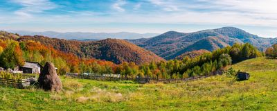 Beautiful rural countryside of Romania. Panorama of a beautiful rural countryside of Romania. lovely autumn landscape stock image