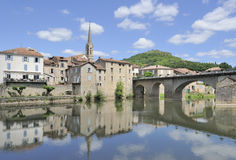 Beautiful rural french village Stock Images