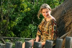 The beautiful rural girl Stock Photography