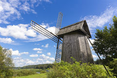 Beautiful rural landscape with old windmill Royalty Free Stock Photography