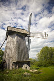Beautiful rural landscape with old windmill Royalty Free Stock Image