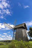 Beautiful rural landscape with old windmill Stock Photo