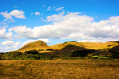 Beautiful rural landscape in Scottish Highlands with field patch Royalty Free Stock Photography
