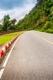 Beautiful Rural Road beside the beach arond Phuket islands, view. From Khao-Khad viewpoint. From this viewpoint, tourists can enjoy the 180-degree view of Royalty Free Stock Image
