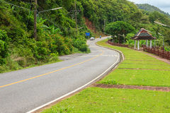 Beautiful Rural Road beside the beach arond Phuket islands, view. From Khao-Khad viewpoint. From this viewpoint, tourists can enjoy the 180-degree view of Stock Photography