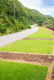 Beautiful Rural Road beside the beach arond Phuket islands, view. From Khao-Khad viewpoint. From this viewpoint, tourists can enjoy the 180-degree view of Royalty Free Stock Photos