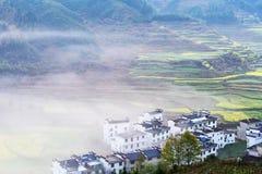 Beautiful rural scenery in wuyuan stock photography