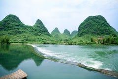 Beautiful rural scenery in yangshuo. Yulong river,China Stock Photography
