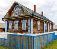 Beautiful rural wooden house Royalty Free Stock Image