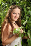 The beautiful Russian girl stock photography