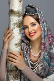 Beautiful Russian Girl In Traditional Clothes Stock Images
