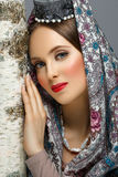 Beautiful Russian Girl In Traditional Clothes Stock Photography