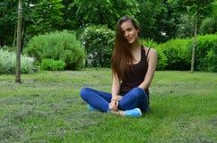Beautiful Russian girl Stock Photo