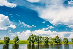Beautiful Russian Lake River, Summer Nature Royalty Free Stock Photos