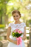 Beautiful russian young bride Stock Images