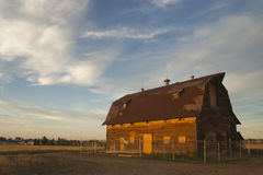 A beautiful rustic barn in rural Colorado Royalty Free Stock Photography