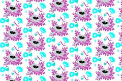 Beautiful Rustic Pattern royalty free illustration