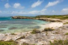 Beautiful Rustic Tropical Beach Antigua. Beautiful Rustic Tropical Beach Near Devil's Bridge Antigua stock photos